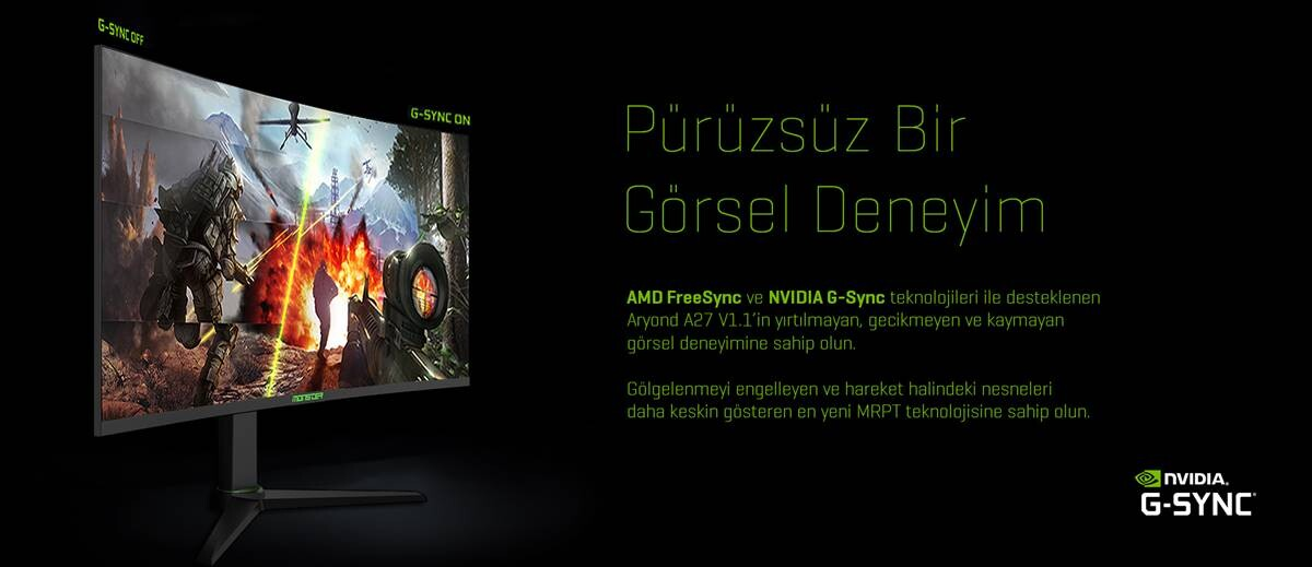 Monster Notebook, Kavisli Ekranlı Yeni Oyun Monitörünü Tanıttı: Aryond